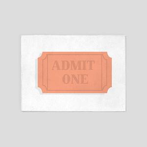 Admission Ticket 5'x7'Area Rug