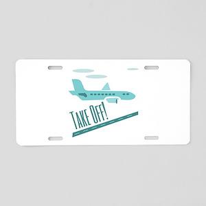 Take Off Aluminum License Plate