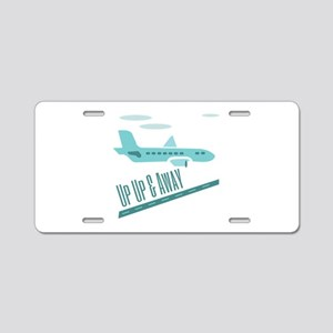 Up Up & Away Aluminum License Plate