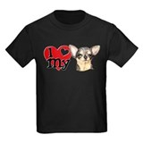 Black and tan chihuahua Kids T-shirts (Dark)