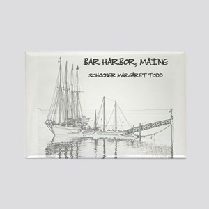 Bar Harbor Schooner Rectangle Magnet