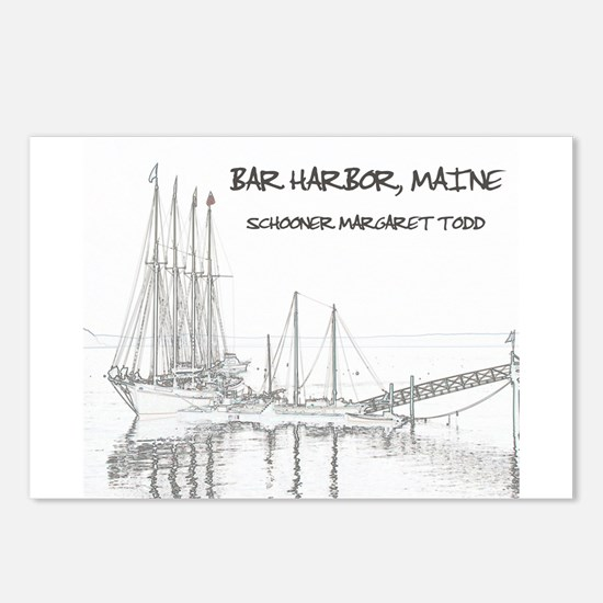 Bar Harbor Schooner Postcards (Package of 8)