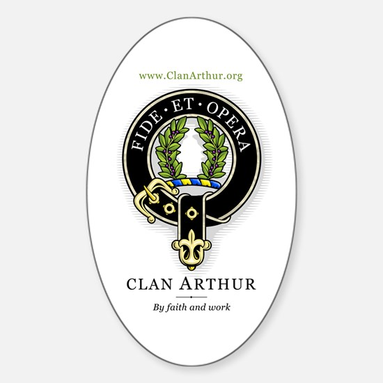 Clan Arthur Oval Decal