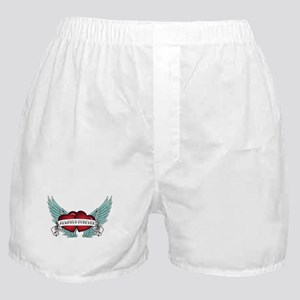 Always and Forever Rockabilly Winged Heart Boxer S