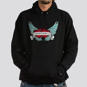 Always and Forever Rockabilly Winged Heart Hoodie