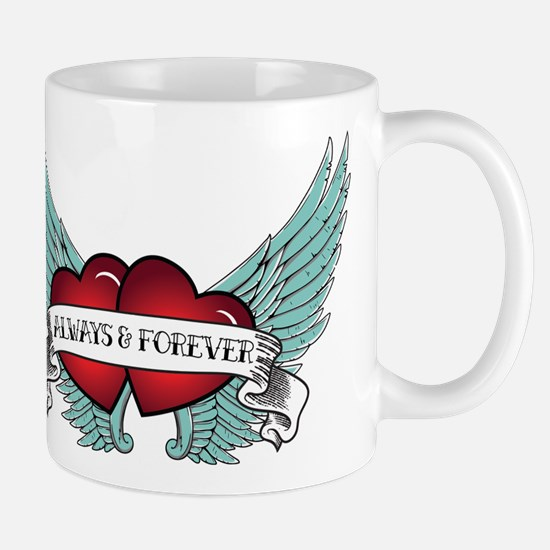 Always and Forever Rockabilly Winged Heart Mugs