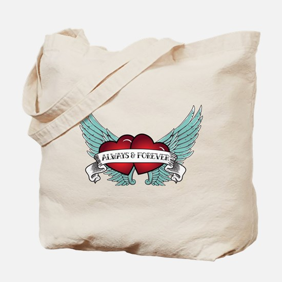 Always and Forever Rockabilly Winged Heart Tote Ba
