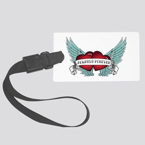 Always And Forever Rockabilly Large Luggage Tag