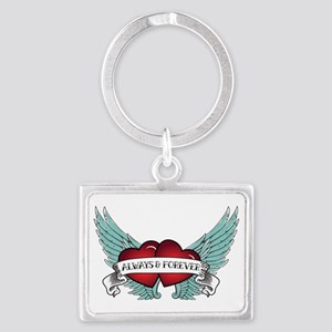 Always And Forever Rockabilly Winged Keychains
