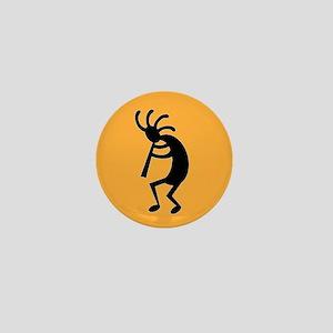 Yellow Kokopelli Southwest Design Mini Button