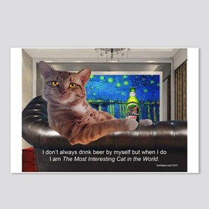 Most Interesting Cat Postcards (Package of 8)