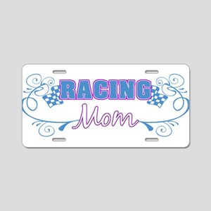 Racing Mom Aluminum License Plate