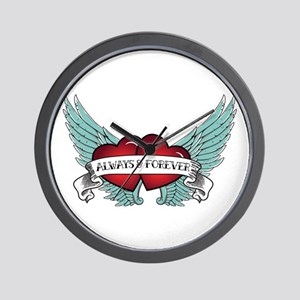 Always And Forever Rockabilly Winged Wall Clock