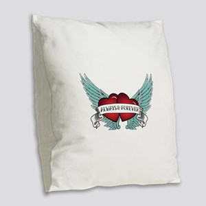 Always and Forever Rockabilly Winged Heart Burlap