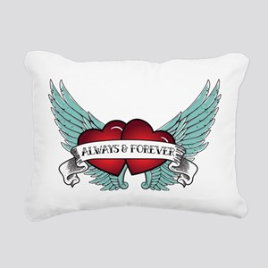 Always and Forever Rockabilly Winged Heart Rectang