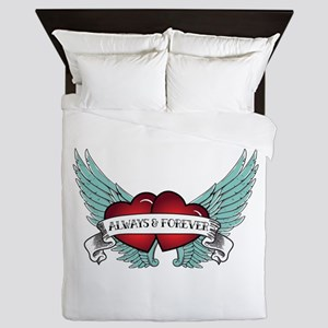 Always And Forever Rockabilly Winged Queen Duvet