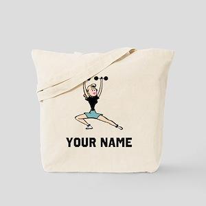 Woman Weightlifting Tote Bag