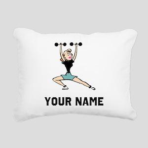 Woman Weightlifting Rectangular Canvas Pillow