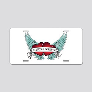 Always And Forever Aluminum License Plate
