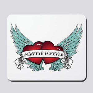 Always And Forever Rockabilly Winged Mousepad