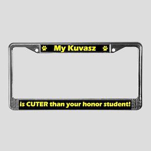 Honor Student Kuvasz License Plate Frame