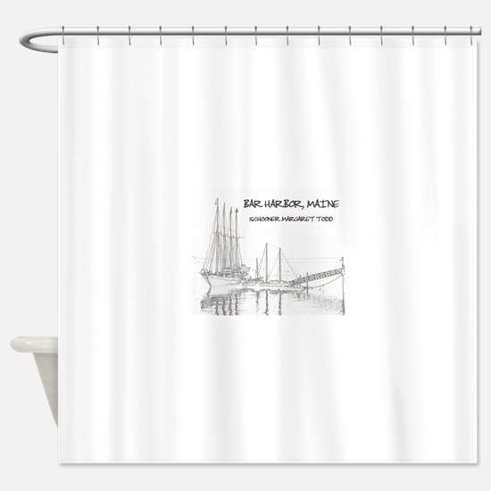 Bar Harbor Schooner Shower Curtain