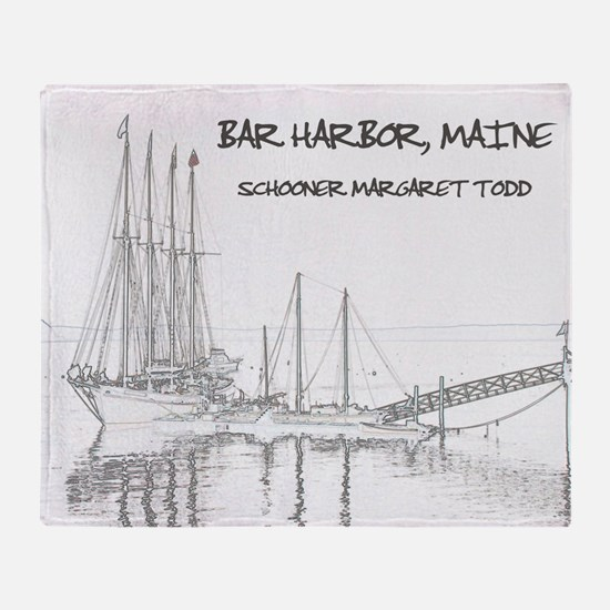 Bar Harbor Schooner Throw Blanket