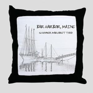 Bar Harbor Schooner Throw Pillow
