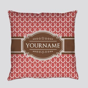 Indian Red Horseshoe Brown Custom Everyday Pillow