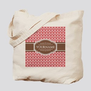 Indian Red Horseshoe Brown Custom Name Tote Bag