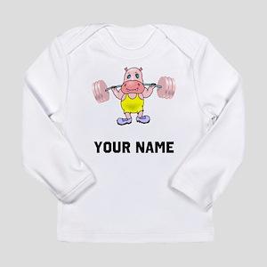 Weightlifter Hippo Long Sleeve T-Shirt
