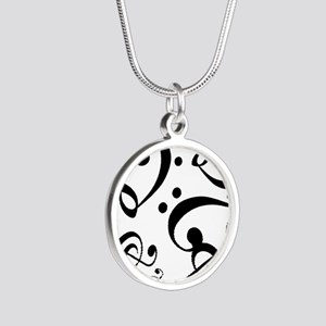 Bass Treble Clef Heart Pattern Music Necklaces