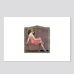 1920s Flapper Woman Relax Postcards (Package of 8)