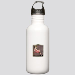 1920s Flapper Woman Re Stainless Water Bottle 1.0L