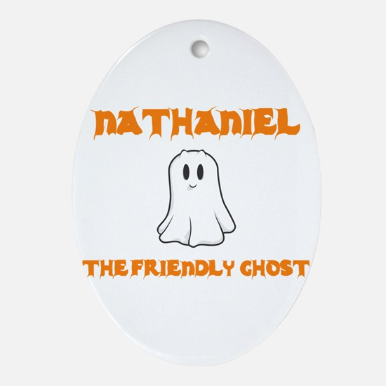 Nathaniel the Friendly Ghost Oval Ornament