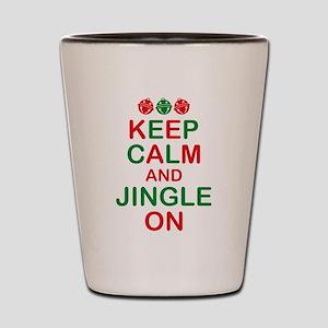 Keep Calm Jingle On Shot Glass