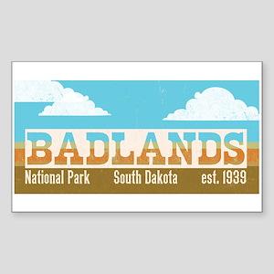 Badlands National Park Sky Sticker