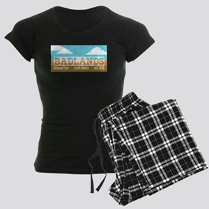 Badlands National Park Sky Women's Dark Pajamas