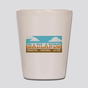 Badlands National Park Sky Shot Glass