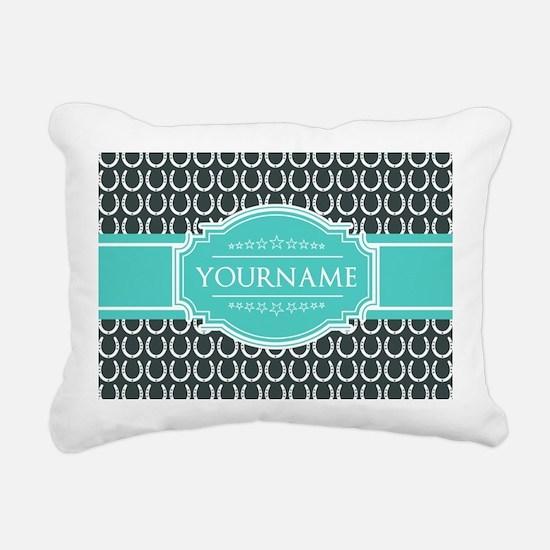 Personalized Horseshoes Rectangular Canvas Pillow