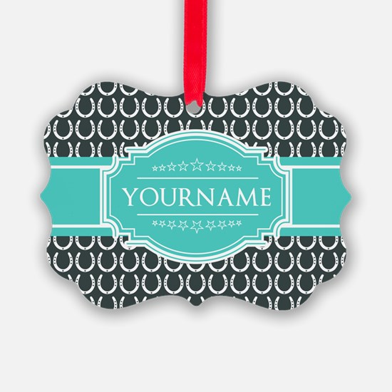 Personalized Horseshoes Pattern - Ornament