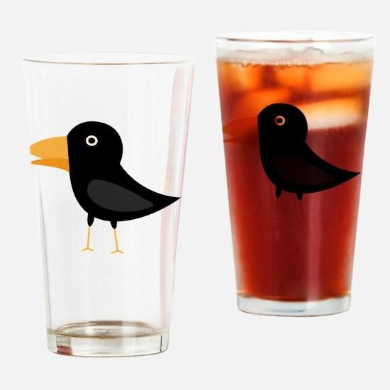 Cool Cartoons lovebirds Drinking Glass