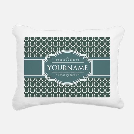 Personalized Horseshoes Rectangular Canvas Pillow