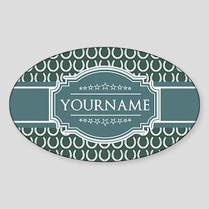 Personalized Horseshoes Pattern - B Sticker (Oval)