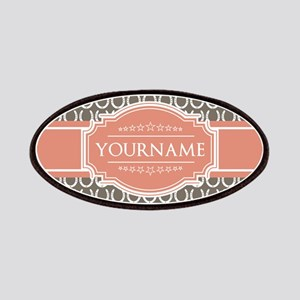Personalized Horseshoes - Beige and Coral Patch