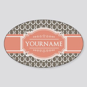 Personalized Horseshoes - Beige and Sticker (Oval)