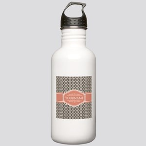 Beige Salmon Horsehoes Stainless Water Bottle 1.0L