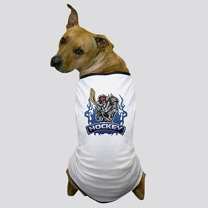 Fantasy Hockey Player Dog T-Shirt