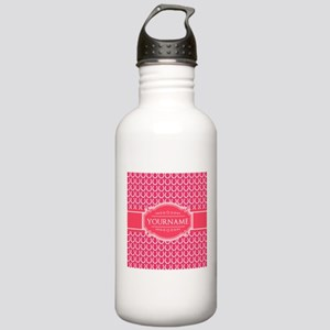 Hot Pink Horseshoes Pe Stainless Water Bottle 1.0L