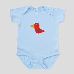 Red cute bird Body Suit